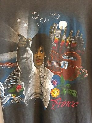 PRINCE tour t shirt 1985 authentic vintage top sleeveless rock music SMALL