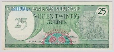 (N1-45) 1982 Suriname 25 gulden bank note (45AT)