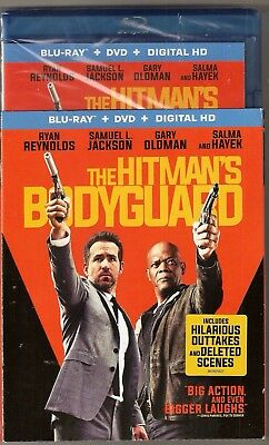 The Hitman's Bodyguard Blu-ray + DVD + Digital HD BRAND NEW with Slip Cover