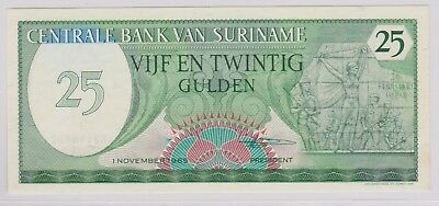 (N1-46) 1982 Suriname 25 gulden bank note (46AU)