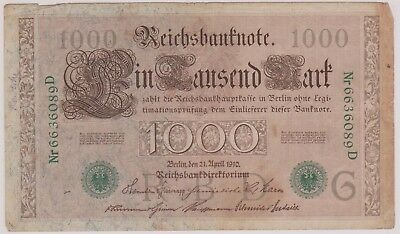 (N1-39) 1900 Germany 1000 marks bank note (39AN)