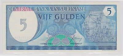 (N1-44) 1963 Suriname 5 gulden bank note (44AS)