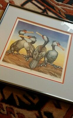 Vintage Alaskan artist Mary Croxton Signed and Limited Edition Numbered Print