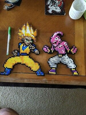 Hand Made Dragonball Z Goku & Kid Buu Perlers