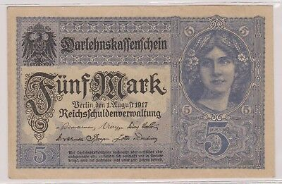 (N11-15) 1917 Germany 5 marks bank note (15O)
