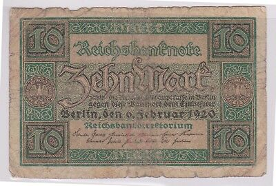 (N1-34) 1920 Germany 10 marks bank note (34AI)