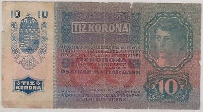 (N1-32) 1915 Germany 10 MARKS bank note (32AG)