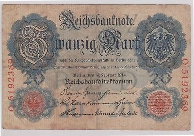 (N1-30) 1914 Germany 20 marks bank note (30AE)