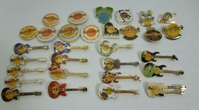 31 Hard Rock Cafe Pins Pinbacks various locations and styles
