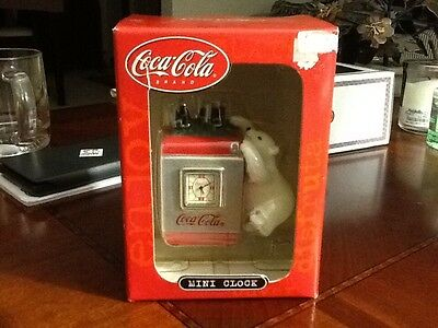 Coca-Cola Mini Clock, New in Box!!