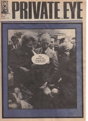 Private Eye Magazine 13 October1978 #439 Thatcher And Unions