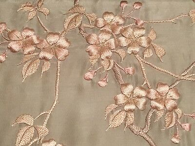 Exquisite Embroidered Silk On Silk Spring Kimono-Beautiful Cherry Blossoms