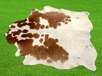 "New Cowhide Rugs Area Cow Skin Leather 11.39 sq.feet (41""x40"") Cow hide MB-166"