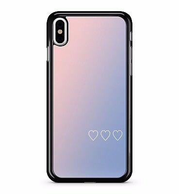 Love Hearts Pink Purple Gradient Colourful Bright Girls 2D Phone Case Cover