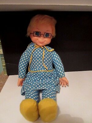 1967 MRS BEASLEY Doll GLASSES APRON COLLAR Family Affair Mattel Vintage Mute