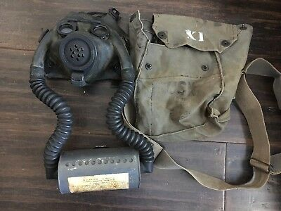 WW2 US Navy Diaphragm Optical (NDO) Mark I Gas Mask USN U