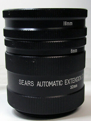 Sears Automatic Extension Tube Set For Sears, M42 Mount, Japan, FREE SHIPPING!