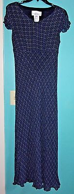 MOTHERHOOD Maternity Cap Sleeve Empire Waist Maxi Dress Size Medium Fully Lined