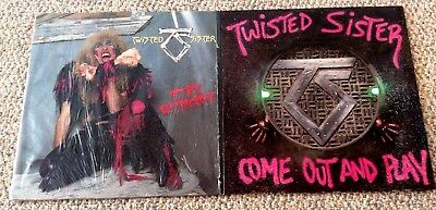 TWISTED SISTER ~ LOT OF 2 LPs Psych Hard Rock Hair Metal 1980s German Imports