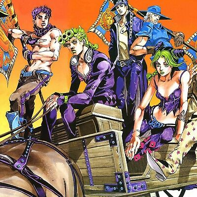 "JoJo's Bizarre Adventure poster wall art home decor photo print 24x24"" inches"