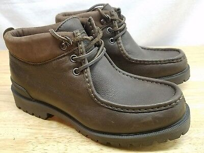 MENS SIZE 8 Nautica Leather Brown Ankle Boots 6 Eyelet Style ... 5389d848d