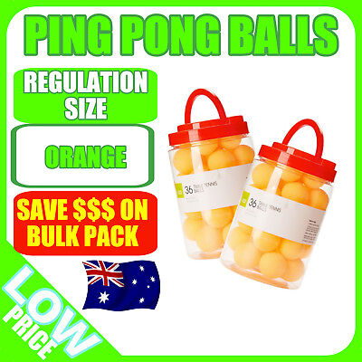 36 or 72 Ping Pong Balls 40mm Orange Comp Olympic Table Tennis Beer Pong Sport