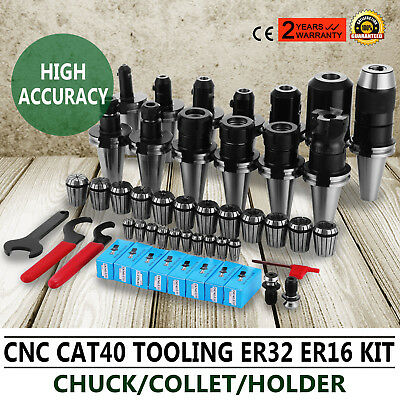 CAT40 CNC Tooling Package Cutter Face Mill Collets Set ER32 16 Industrial Steel