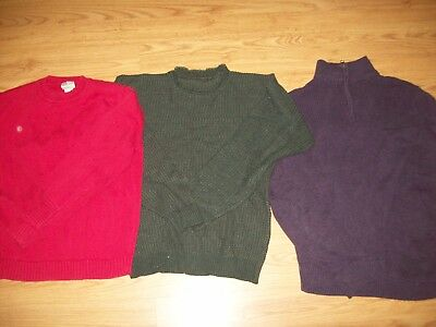 3 Mens Sweaters 2 Med And One Large  Ll.bean And Dockers
