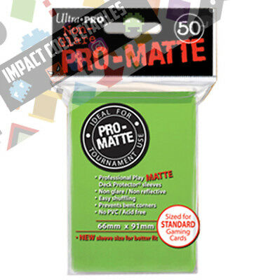 Genuine ULTRA PRO PRO-Matte - Deck Protector Sleeves Lime Green 50ct