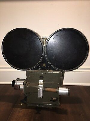Bell & Howell 35mm Camera Military Mitchell Machine Age Bausch Lomb Baltar Lens