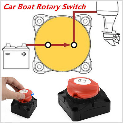 Car RV Marine Boat Battery Selector Isolator Disconnect Rotary Cut On/Off Switch
