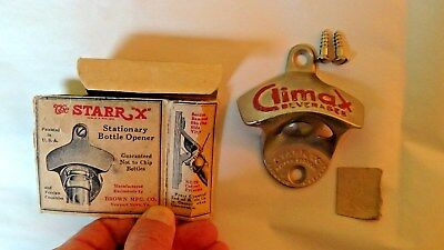 """the STARR """"X"""" bottle opener, Climax beverages, never used"""