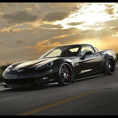 "Chevrolet Corvette Sports car poster wall art home decor photo print 24x24"" in"