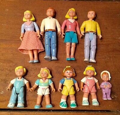 Lot of 9 Fisher Price Loving Family 1993 & 94 - Dad Mom Toddlers Baby
