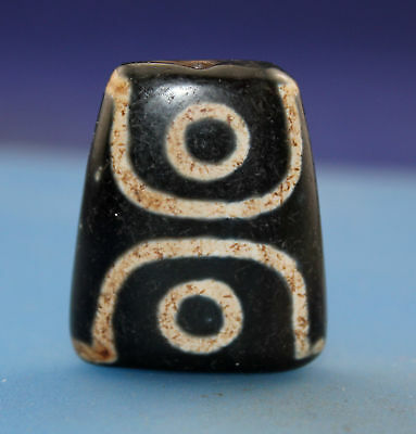 40*13*15 mm Antique Dzi  Agate old 3 eyes  Bead  from Tibet ***Free shipping***