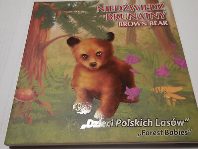 Niue 2014  BROWN BEAR series  Forest Babies  Silver  Coin