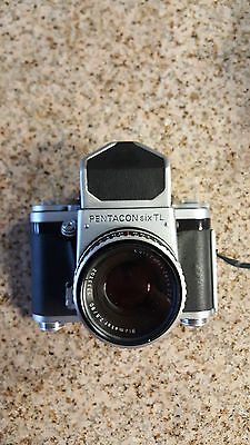 Vintage PENTACON six TL 6x6 SLR Camera Prism Finder Carl Zeiss f2,8/80mm AS IS