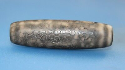 49*15 mm Antique Dzi  Agate old 9 eyes  Bead  from Tibet ***Free shipping***