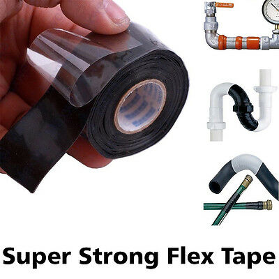 "Hot 4""x5' Flex Tape Patch Bond Super Strong Rubberized Waterproof Seal Repair AU"