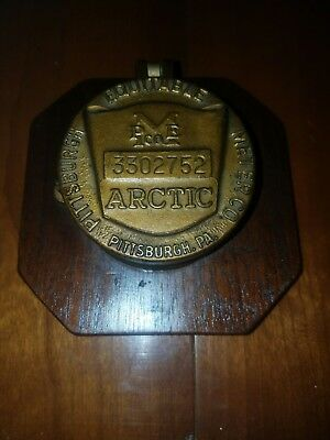 Antique Water Meter Brass Pittsburgh PA Equitable Meter Company Display