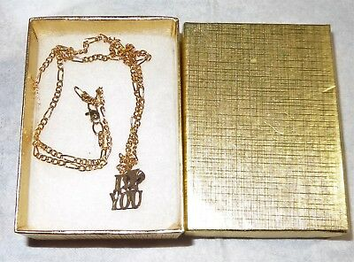 Nice Vintage Tweety Bird Necklace 10K Gold Charm 24K Pg Gold Chain In A Box