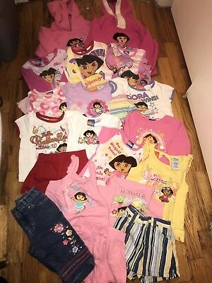 lot of 19 girls clothes size 3T nickelodeon Dora the explorer bundle