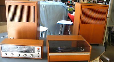 HMV 1960s Radio, Amp & Record player with Matching Speakers