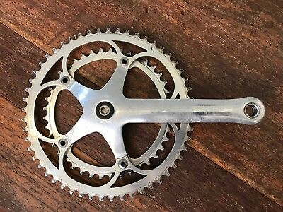 Campagnolo C Record Right side crank arm + chain rings. 1994-1995 model.
