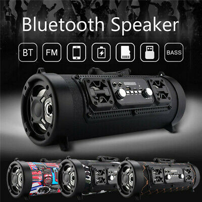 Wireless Portable Bluetooth SpeakerStereo Super Bass HIFI AUX USB TF FM Music