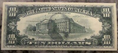 1977 $10 Dollar Frn Federal Reserve Note Front Imposed On Back Error""