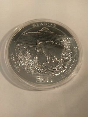 2011 Montana Glacier NP 5 ozt Silver America the Beautiful Quarter