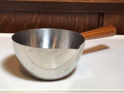 Mid Century Gense Stainless Steel Wood Handle Sauce Pot Made in Sweden