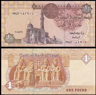 EGYPT 1 Pound, 2007, P-50, UNC World Currency