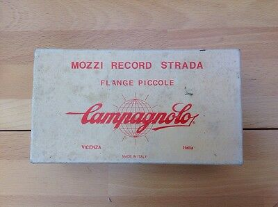 Campagnolo Nuovo Record Hubs 32/32 Mint Pantographed with Italian Flag Colours